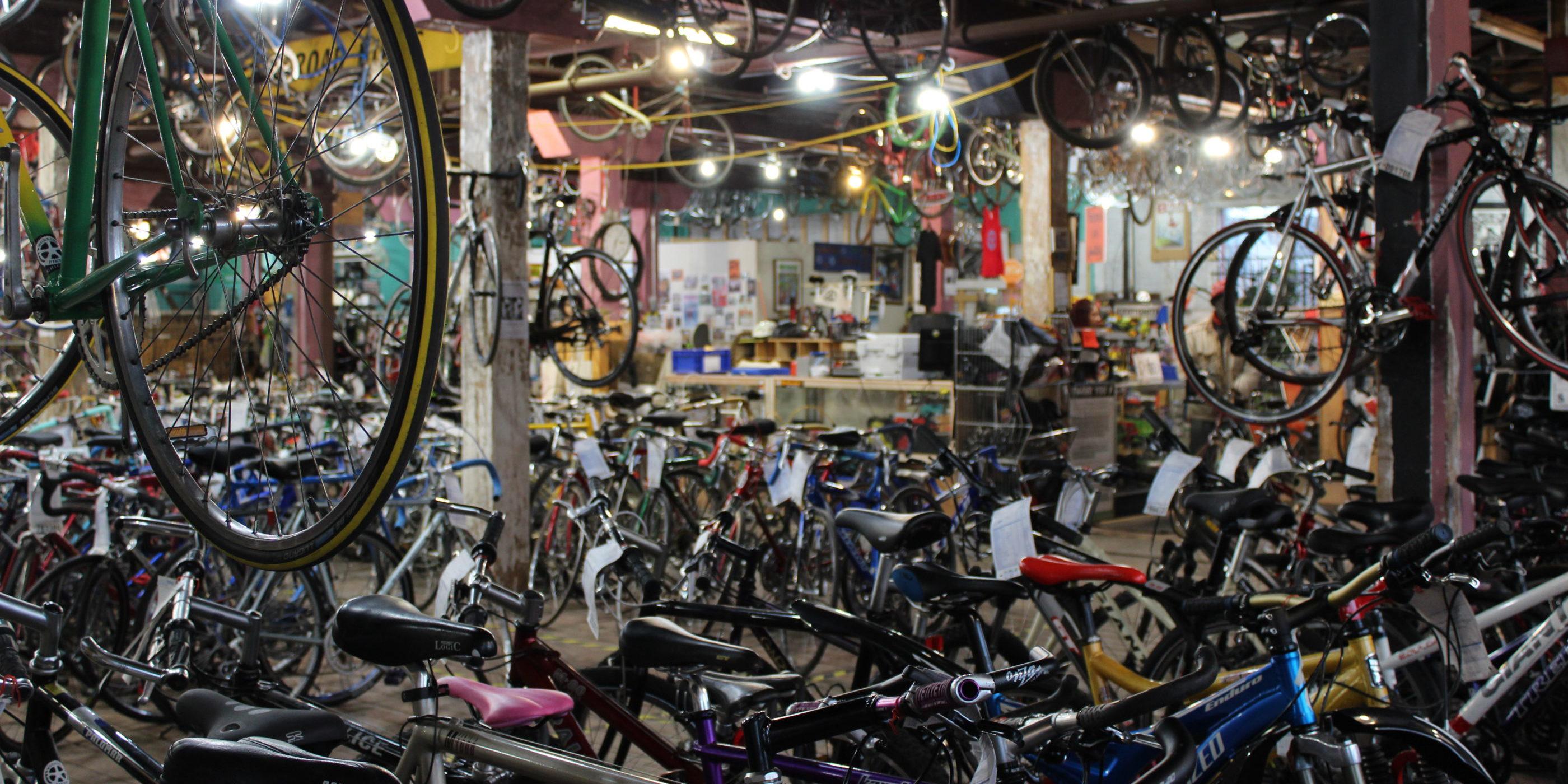 Working Bikes sales floor.